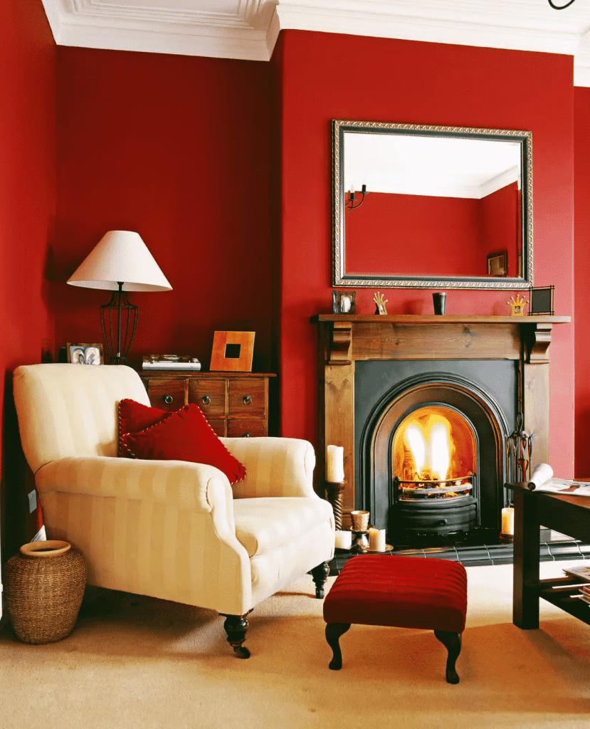 Màu đỏ: Đam mê, dũng cảm và lãng mạn (yếu tố Hỏa)