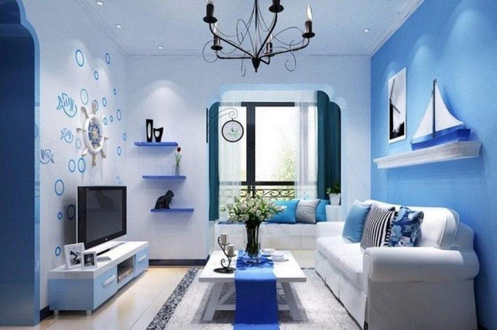 Màu xanh lam: Bình tĩnh, thư giãn và yên bình (yếu tố Thủy)